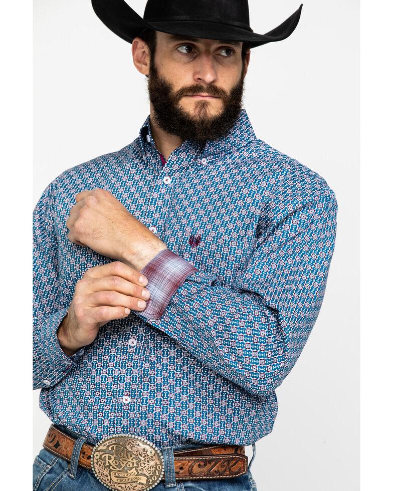 Rough Stock By Panhandle Men's Tonopah Vintage Print Long Sleeve Western Shirt , , hi-res