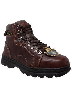 "Ad Tec Men's 6"" Metatarsal Hiker Boots - Soft Toe, Brown, hi-res"