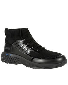 Rocky Men's Code Blue Knit Serive Boots - Soft Toe, Black, hi-res