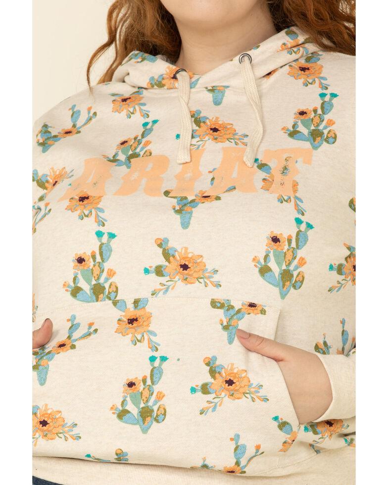 Ariat Women's R.E.A.L. Floral Cactus Hoodie - Plus, , hi-res