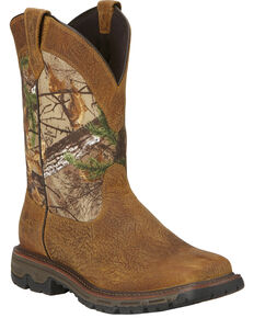 Ariat Men's Conquest H2O Pull-On Hunting Boots, Brown, hi-res