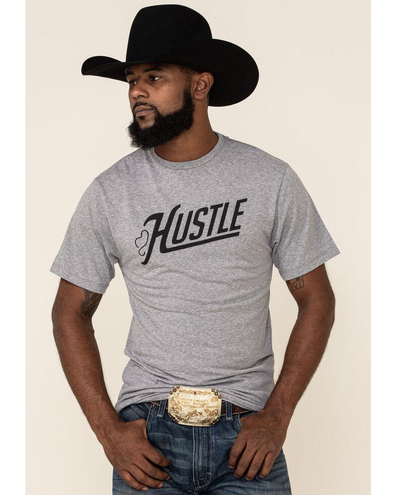 HOOey Men's Grey Hustle Graphic T-Shirt , Grey, hi-res