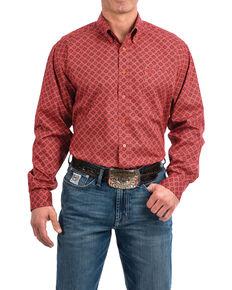 2d2c65694e Cinch Men s Coral Floral Print Long Sleeve Western Shirt