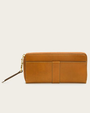 Frye Women's Ilana Harness Zip Wallet , Cognac, hi-res