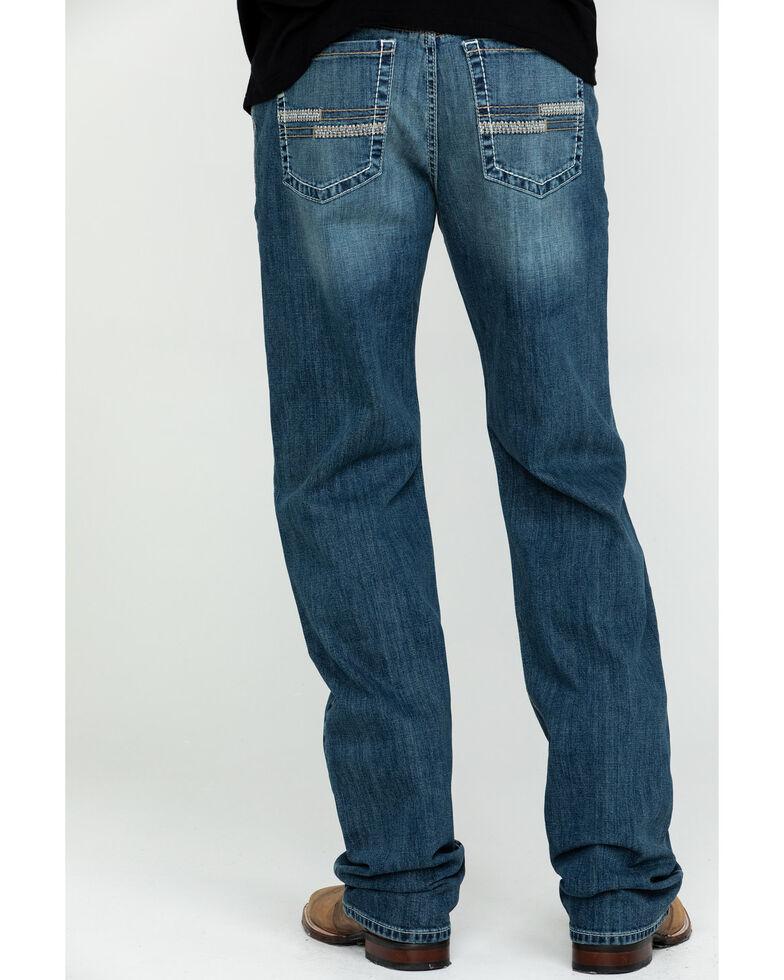 Cinch Men's Grant Medium Stonewash Mid Relaxed Bootcut Jeans , Indigo, hi-res