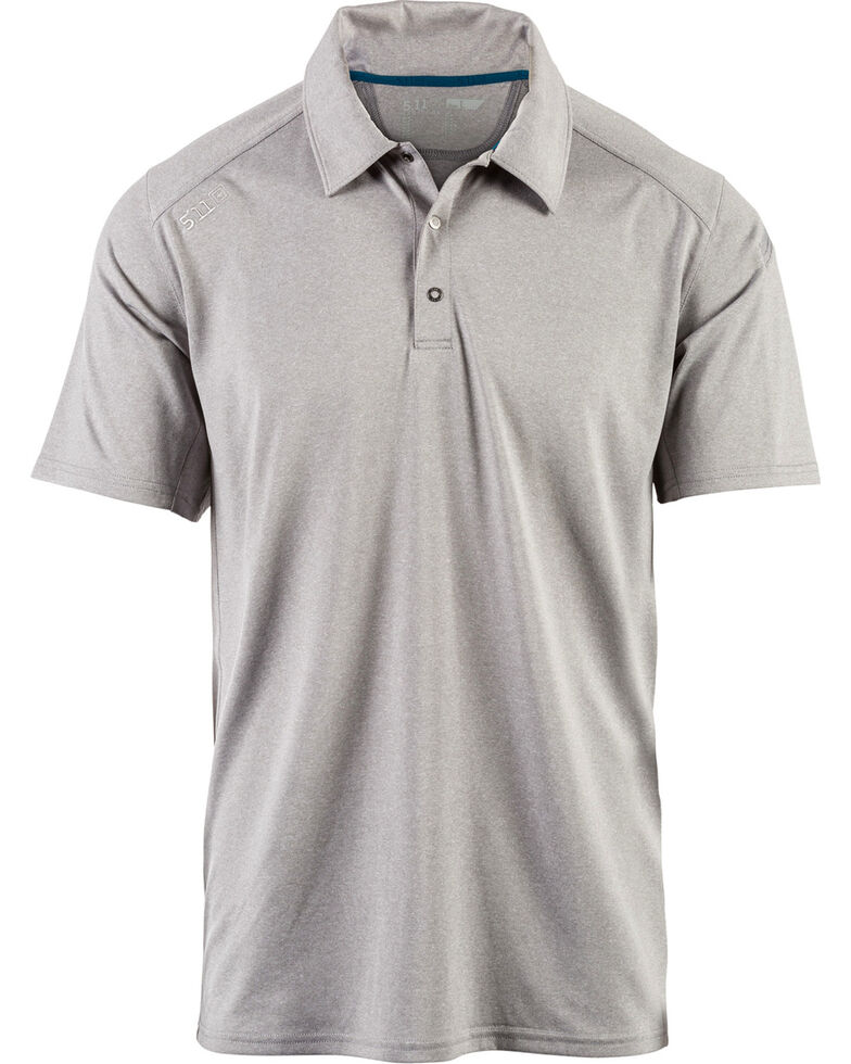 5.11 Tactical Men's Paramount Polo, Heather Grey, hi-res