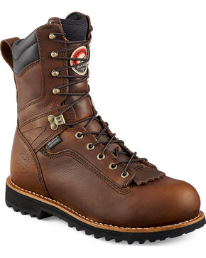 Red Wing Irish Setter Mesabi Logger Work Boots - Aluminum Toe , Brown, hi-res