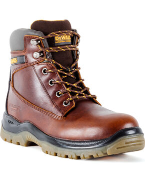 DeWalt Men's Titanium Work Boots - Steel Toe, Brown, hi-res