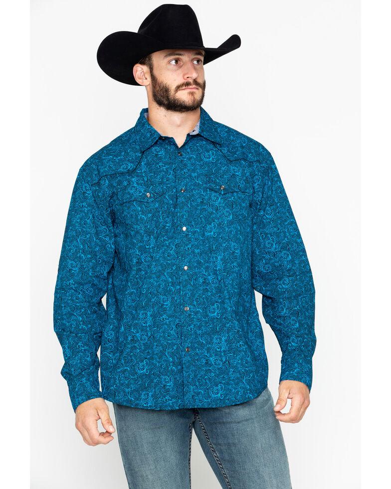 Moonshine Spirit Men's Unsung Paisley Print Long Sleeve Western Shirt, Black, hi-res