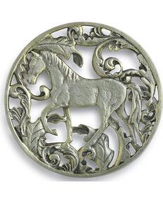 Demdaco Equine Aluminum Trivet , Silver, hi-res