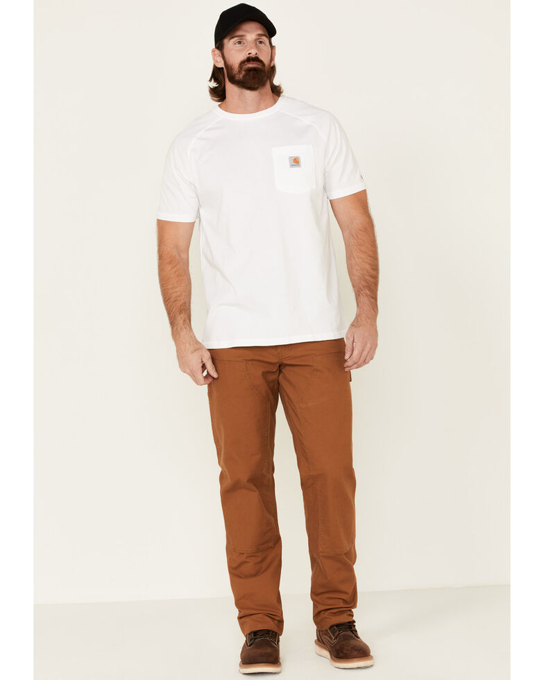 Carhartt Men's Rugged Flex Relaxed Fit Duck Double Front Work Pants, Brown, hi-res