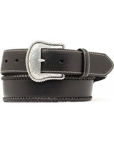 Nocona Men's Leather Lace Western Belt, Black, hi-res