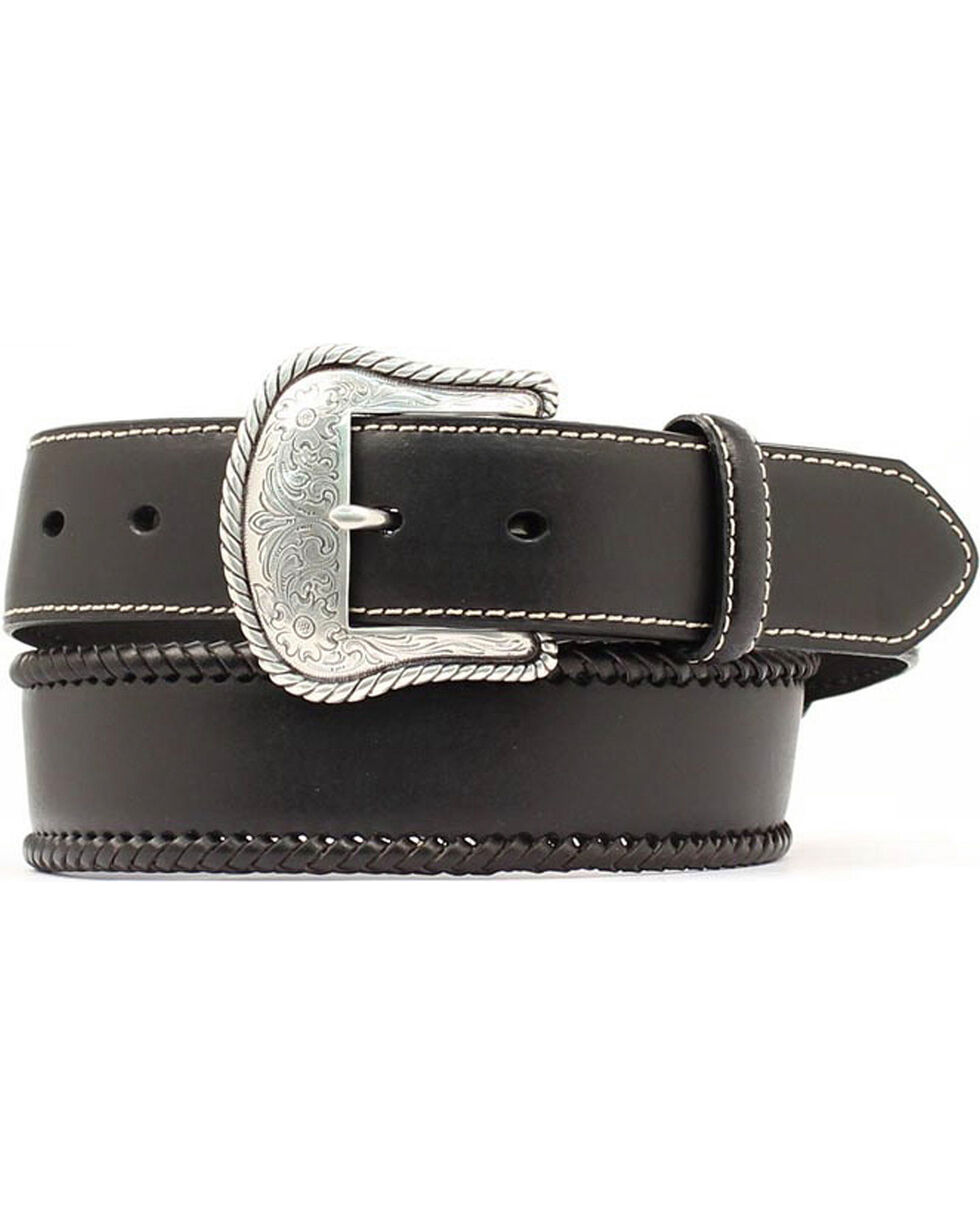 Nocona Men's Leather Lace Western Belt, Black, hi-res