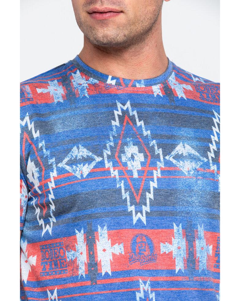 Dale Brisby Men's All Over Aztec Print Crew T-Shirt , Multi, hi-res