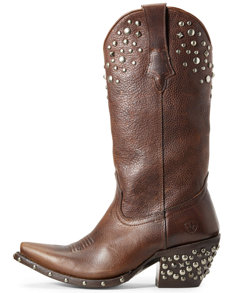 Ariat Women's Calypso Pebbled Walnut Western Boots - Snip Toe, Brown, hi-res