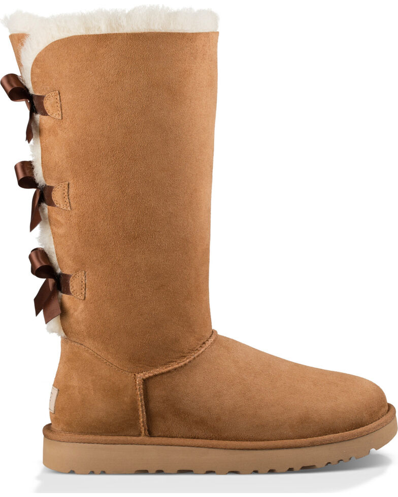 UGG Women's Chestnut Bailey Bow Tall II Boots - Round Toe , Brown, hi-res