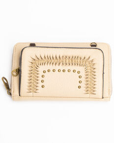 Shyanne Women's Tied Detail Wallet, Tan, hi-res