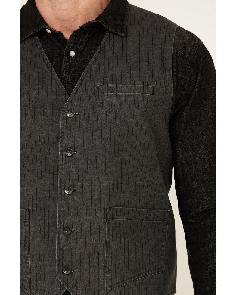 Moonshine Spirit Men's Jukebox From Summer Yarn Dye Striped Vest , Charcoal, hi-res