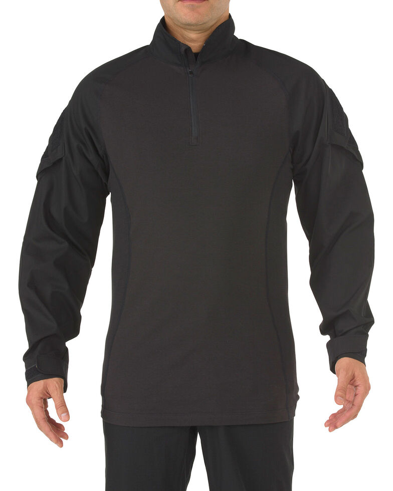 5.11 Tactical Rapid Assault Long Sleeve Shirt - 3XL, Black, hi-res