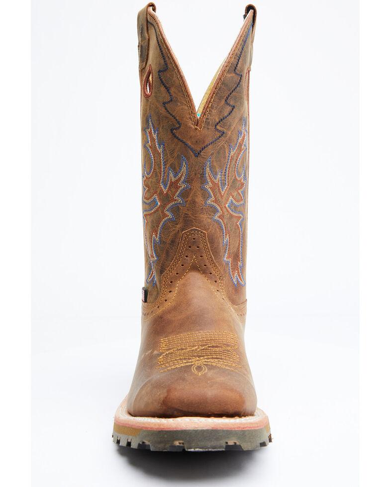 Double H Men's McDorman Western Work Boots - Soft Toe, Brown, hi-res