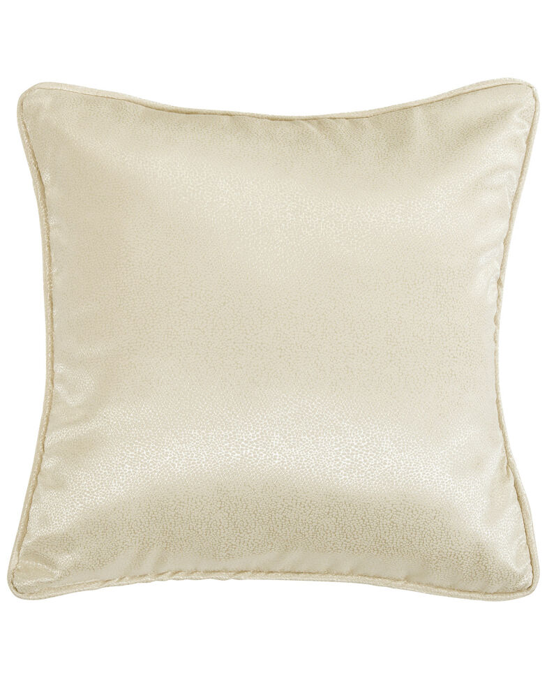 HiEnd Accents Hollywood Campaign Bubble Euro Sham, Cream, hi-res
