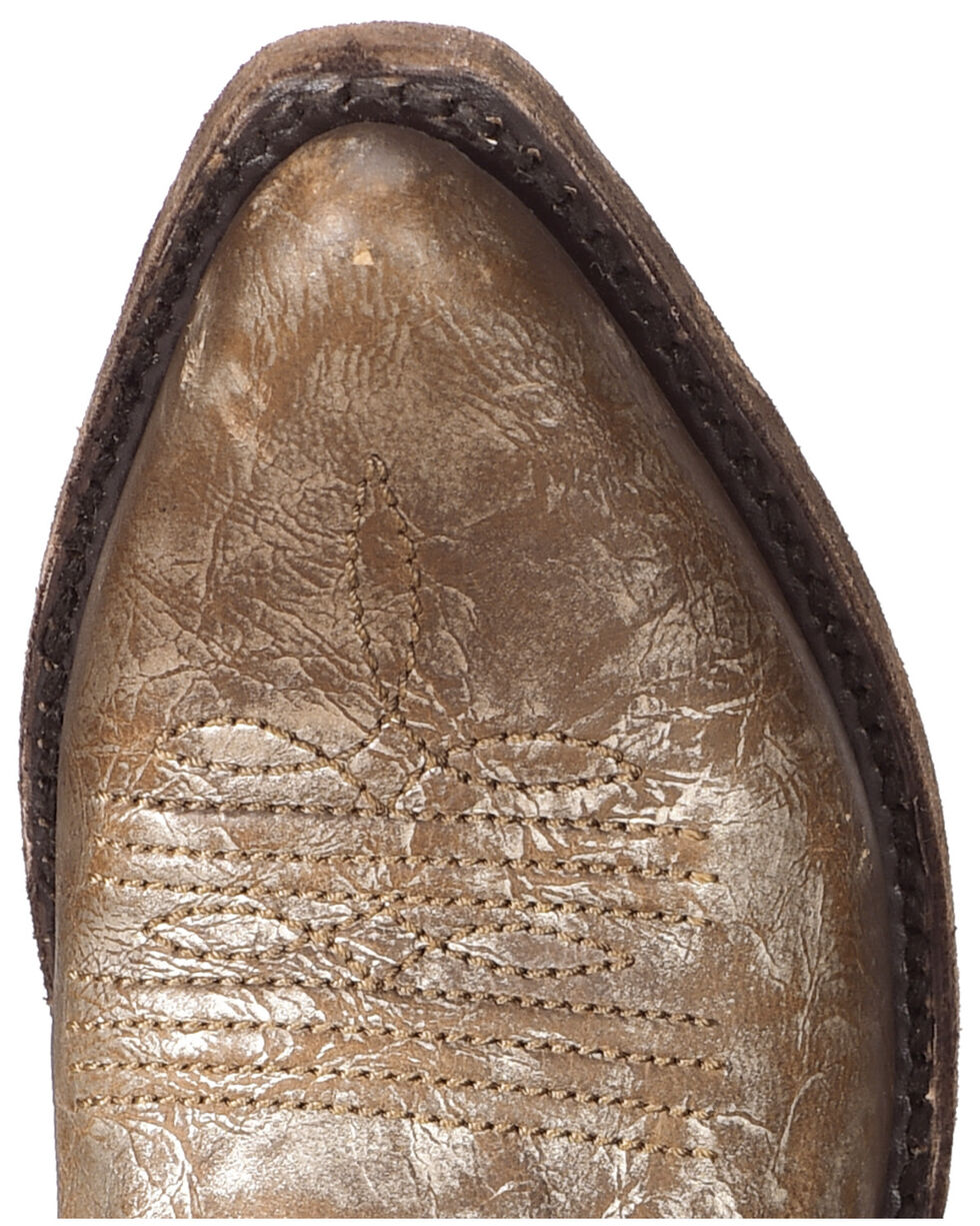 Liberty Black Women's Buffed Metal Concho Fringe Boots, Grey, hi-res