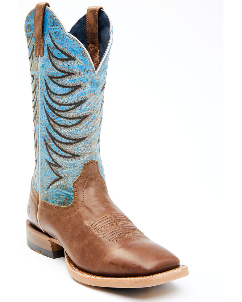 Ariat Men's Firecatcher Western Boots - Square Toe, Brown, hi-res
