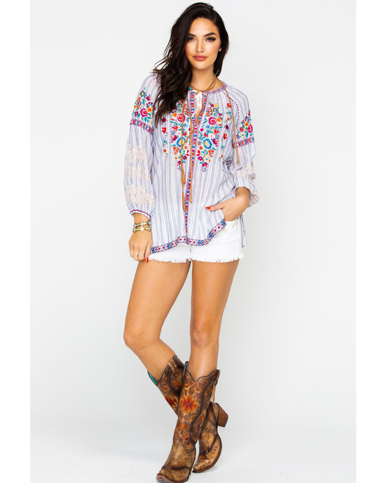 Johnny Was Women's Allegra Peasant Blouse , Multi, hi-res