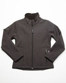 Roper Girls' Grey Softshell Jacket , Grey, hi-res