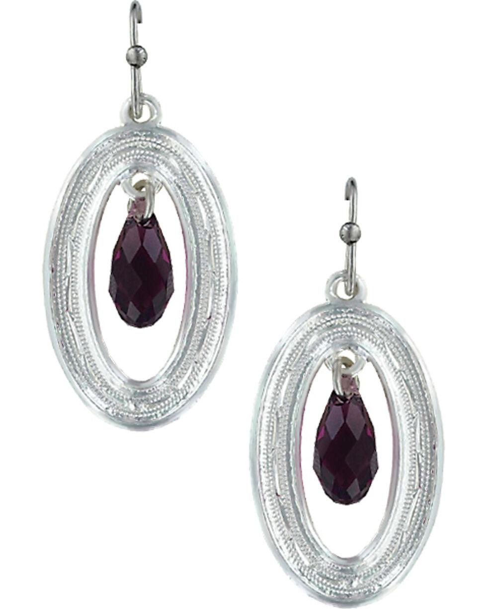 Montana Silversmiths Framed Evening Mist Earrings , Silver, hi-res