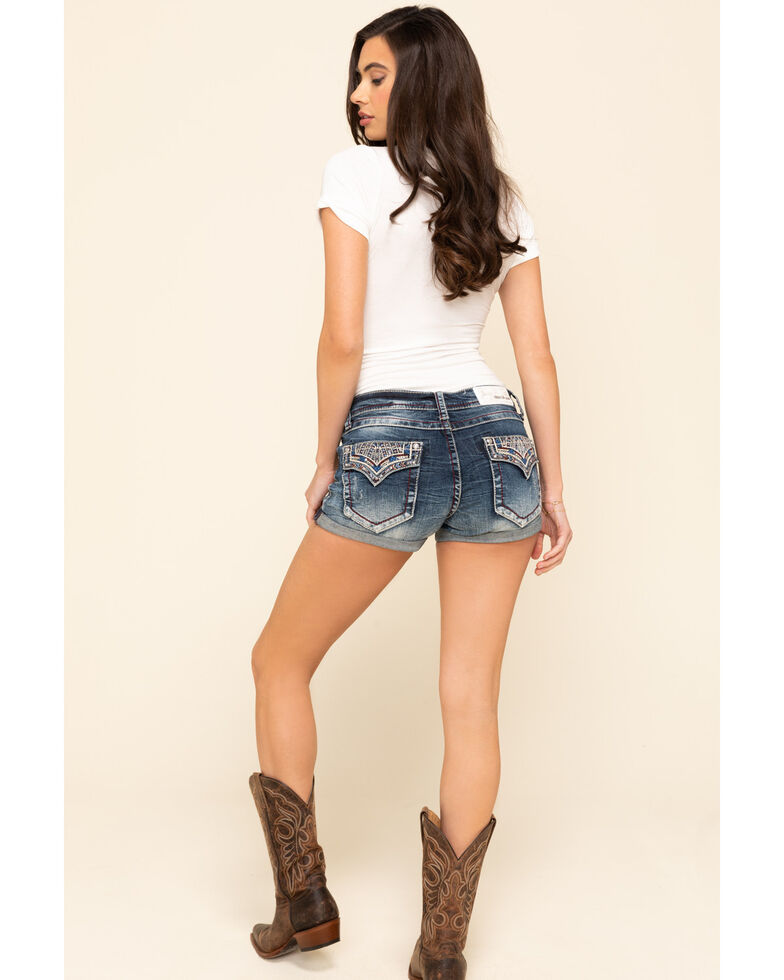 Grace in LA Women's Heavy Embroidered Shorts, , hi-res