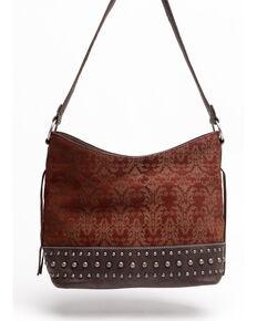 Shyanne Women's Laser Etched Baroque Shoulder Bag, Wine, hi-res