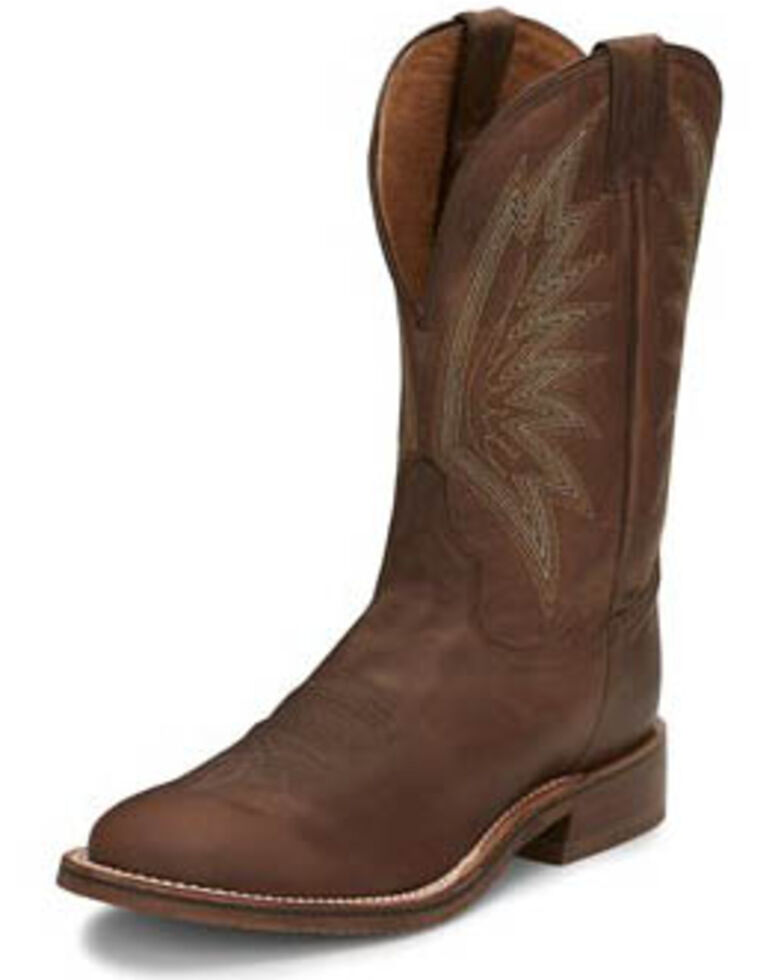 Tony Lama Men's Conner Tobacco Western Boots - Round Toe, Brown, hi-res