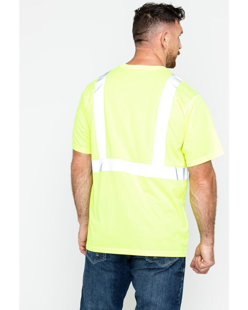 Hawx® Men's Short Sleeve Reflective Work Tee - Big & Tall, Yellow, hi-res
