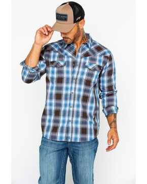 Cody James Men's Basin Dobby Plaid Shirt, Blue, hi-res
