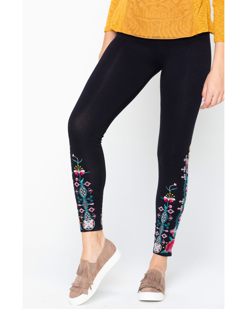 Johnny Was Women's Peta Leggings , Black, hi-res
