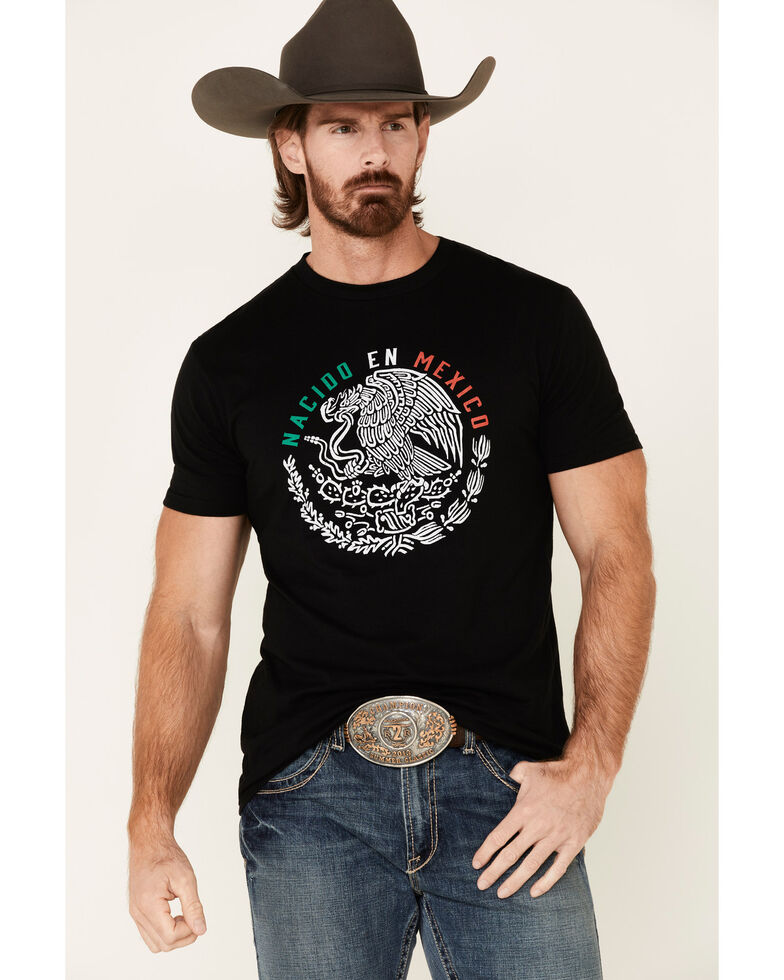 Cody James Men's Black Born In Mexico Graphic T-Shirt , Black, hi-res