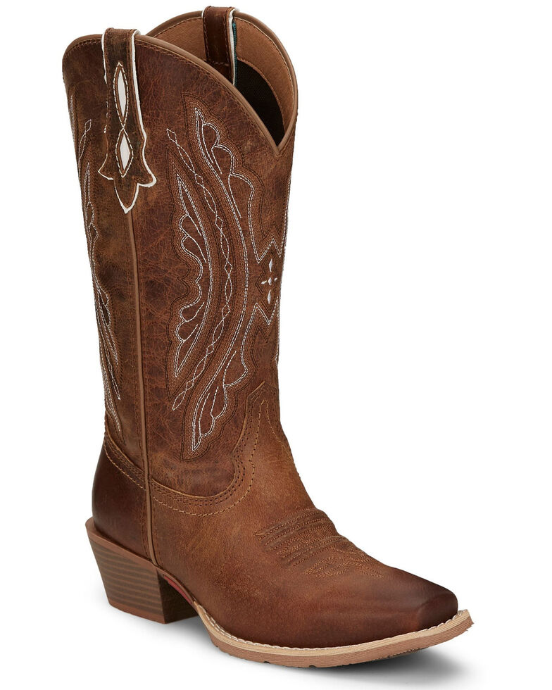 Justin Women's Rein Waxy Western Boots - Square Toe, Brown, hi-res