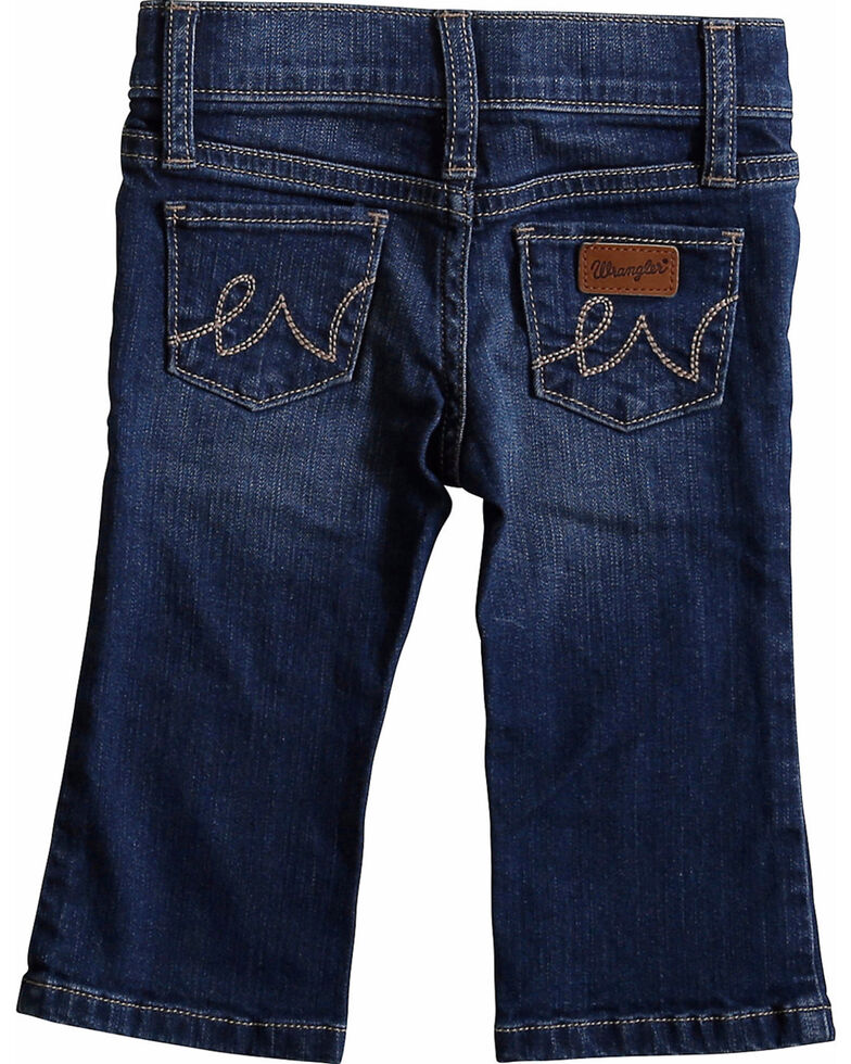 Wrangler Toddler Girls' Western 5 Pocket Jeans - Skinny, Blue, hi-res
