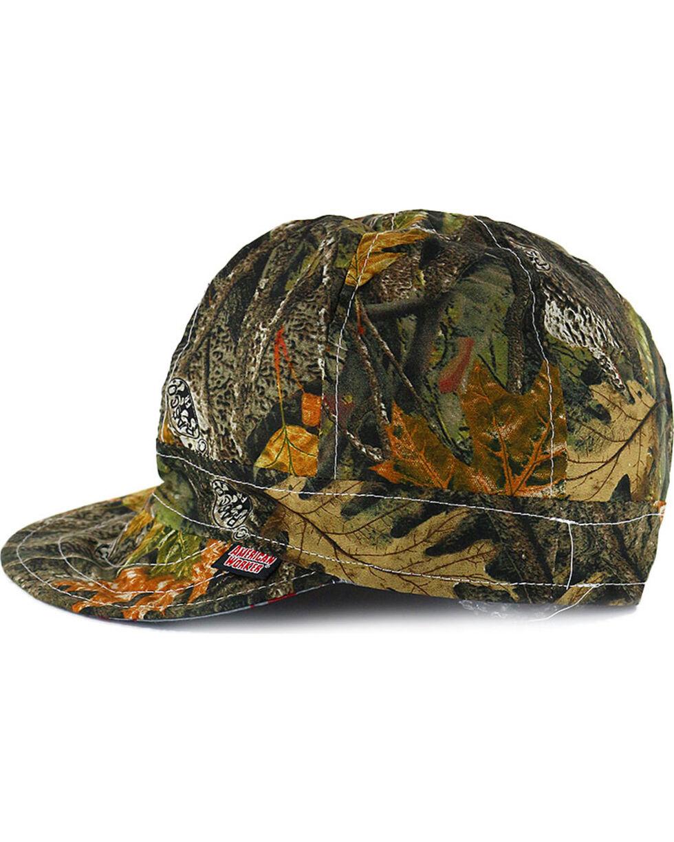 American Worker Men's Wood Camo Welding Cap, Camouflage, hi-res