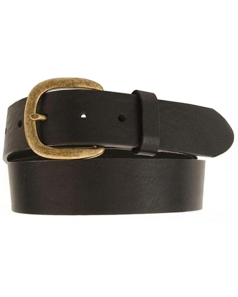 Justin Men's Leather Work Belt, Black, hi-res