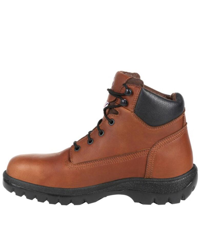 Rocky Men's Worksmart Waterproof Work Boots - Soft Toe, Brown, hi-res