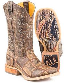 Tin Haul Men's Money Maker Western Boots - Square Toe, Brown, hi-res