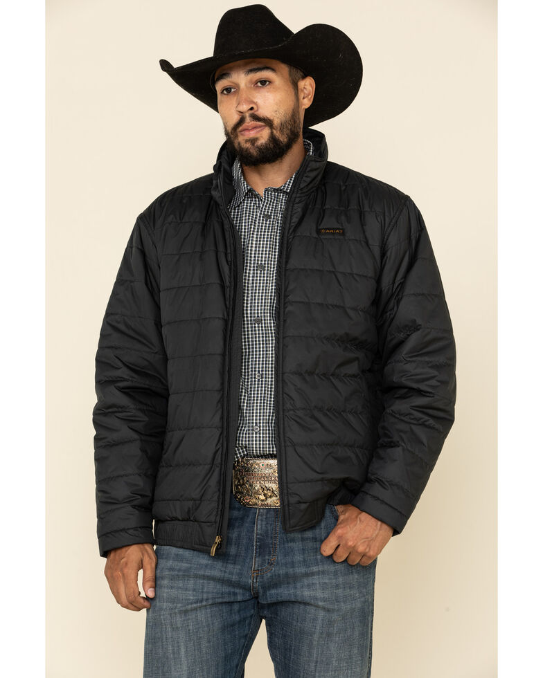 Ariat Men's Black Mosier Quilted Concealed Carry Jacket, Black, hi-res