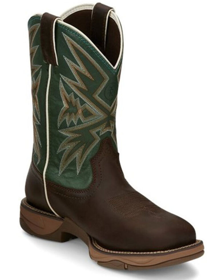 Tony Lama Men's Bartlett Amber Western Boots - Square Toe, Brown, hi-res