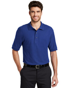 Port Authority Men's Royal Silk Touch Short Sleeve Polo Shirt - Big , Royal Blue, hi-res