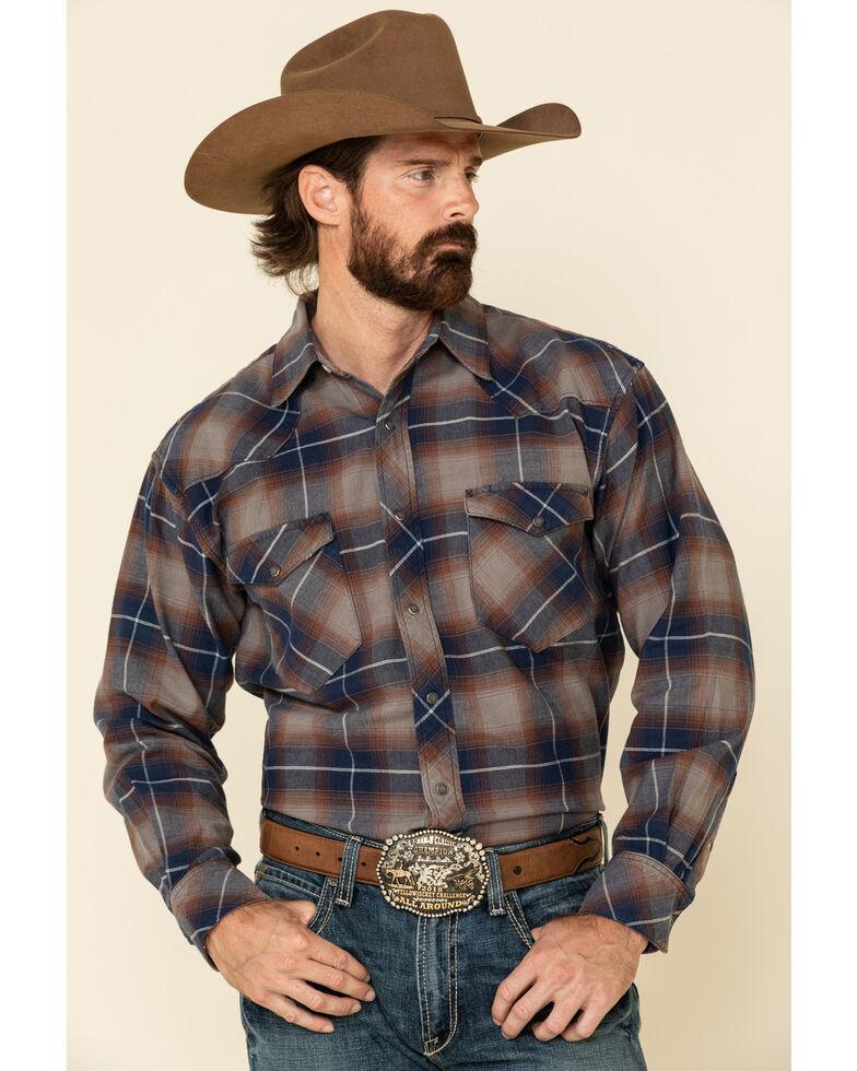 Resistol Men's Multi Primrose Ombre Large Plaid Long Sleeve Western Shirt , Multi, hi-res