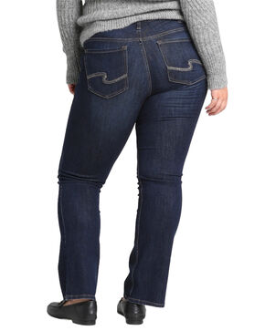 Silver Women's Suki Slim Boot Jeans - Plus Size , Indigo, hi-res