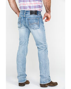 Rock & Roll Cowboy Men's Abstract A Reflex Slim Straight Jeans  , Indigo, hi-res