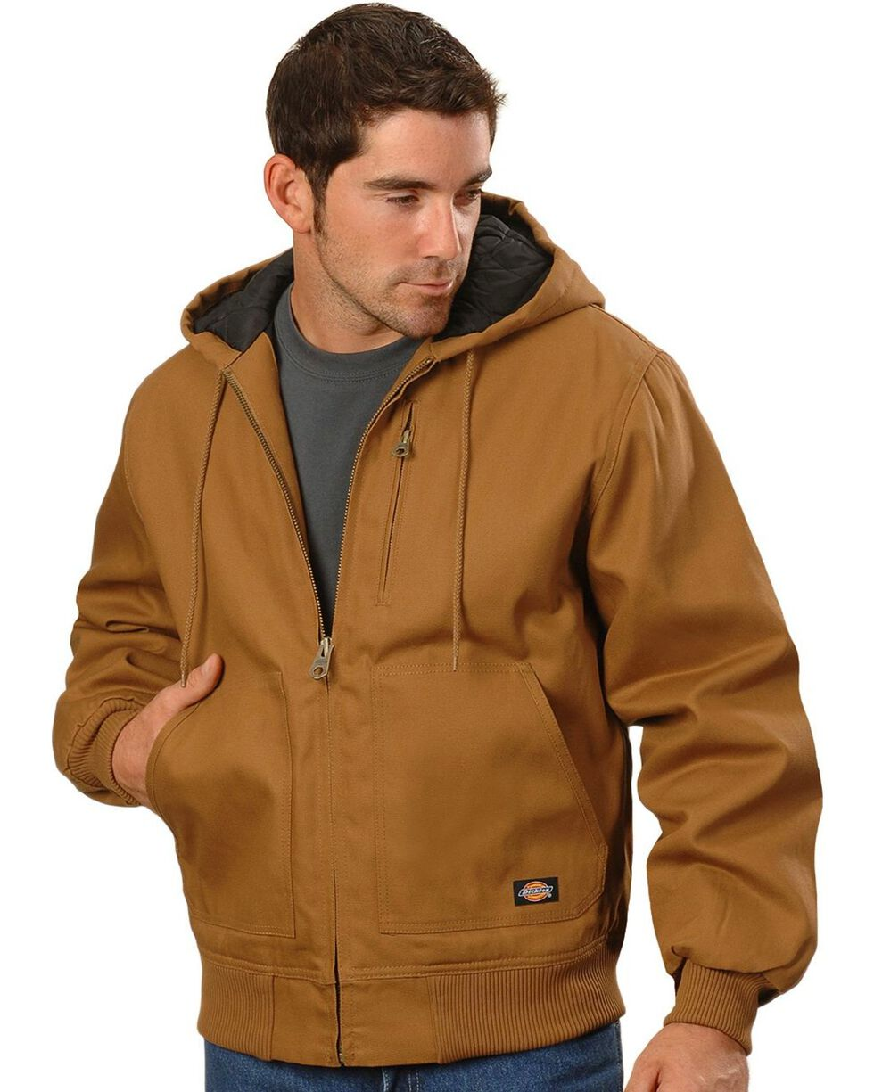 Dickies Rigid Duck Hooded Jacket - Big & Tall, Brown Duck, hi-res